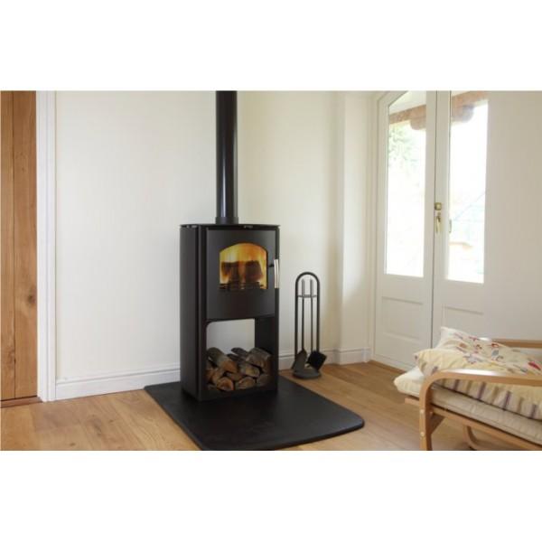 mendip churchill poele a bois contemporain po les et chemin es. Black Bedroom Furniture Sets. Home Design Ideas